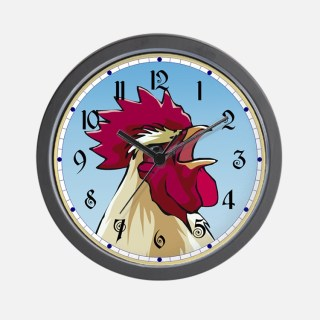 crowing_rooster_wall_clock