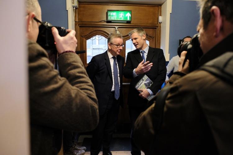Michael Gove MP and Zac Goldsmith MP pre-session (1)